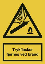 3593 Trykflasker fjernes ved brand stor